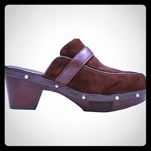 Rockport Dark Brown Mule Clogs, adiPRENE by adidas